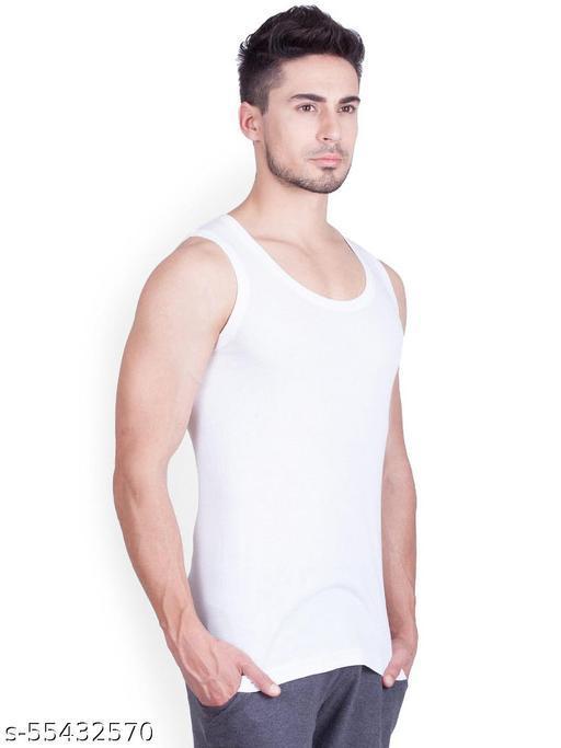 ONN Men White Pack of 3 premium Vests NB131