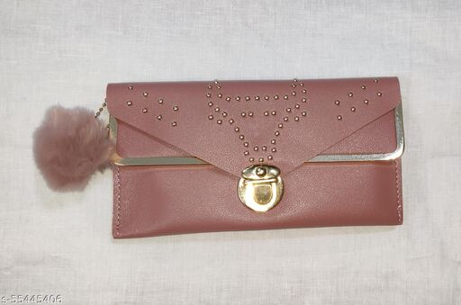 Double side nude hand wallet for girls and women