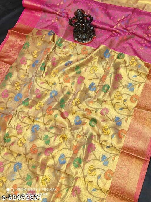 Latest Banarasi tissue silk saree
