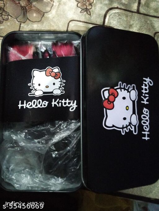 hello kitty black makeup brush makeup kit