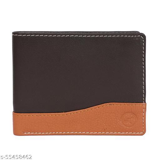 LIMERENCE Men RFID Secured Premium Genuine Leather Wallet-Brown-Tan