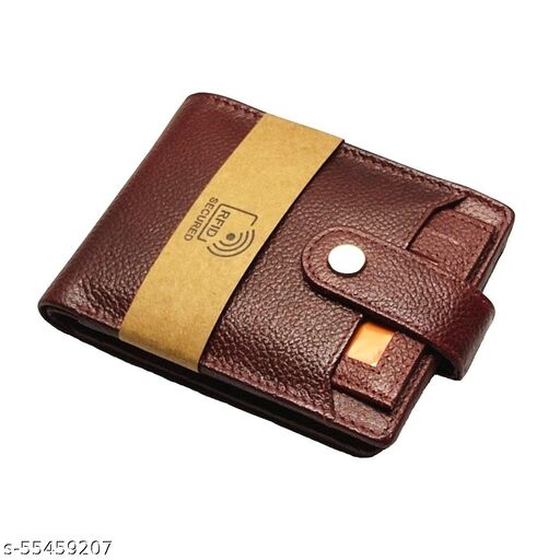 LIMERENCE Men Two Tone Brown Genuine Leather RFID Protected Wallet