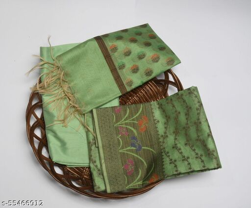 Banarasi Silk Cotton Suit