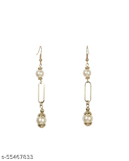 Gold Plated Pearl Drop Earring