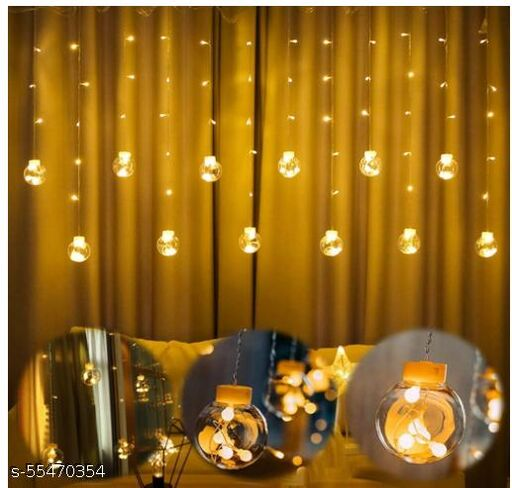 Wish Lights Globe Lights Indoor Outdoor String Lights Window Curtain Lights with 8 Flashing Modes Christmas Wedding Party Home Garden Shop Decoration Backdrop (8.2 Feet, Wish Ball-Warm White)