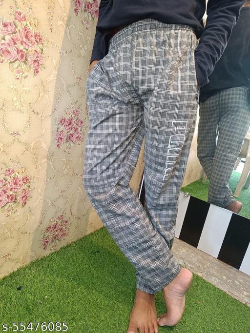 Men's Cotton checks Track Pant