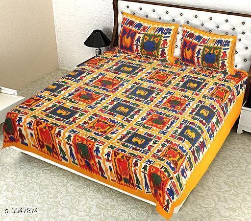 Pure Cotton 100x90 Queen Double Bedsheet