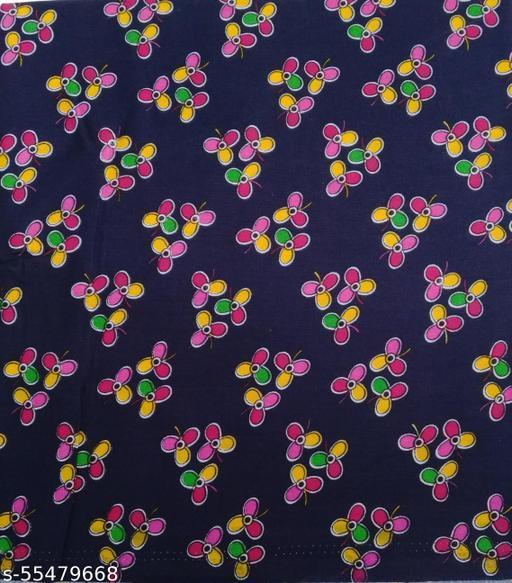 Kalamkari Blouse unstitched Cotton 1 Meter multicolor (424)