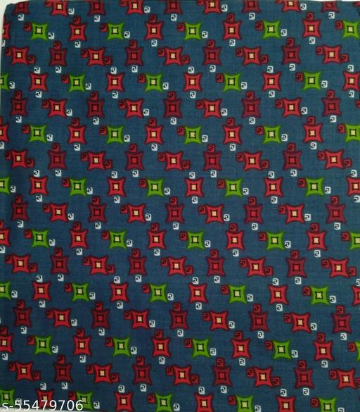 Kalamkari Blouse unstitched Cotton 1 Meter multicolor (414)
