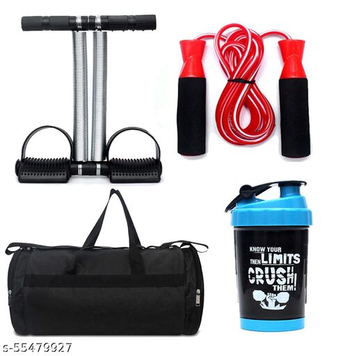 shaker +rope+gym bag+ tummy trimmer double spring