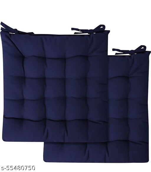 Premium Quality Chair Blue color Cushion Pack of 2