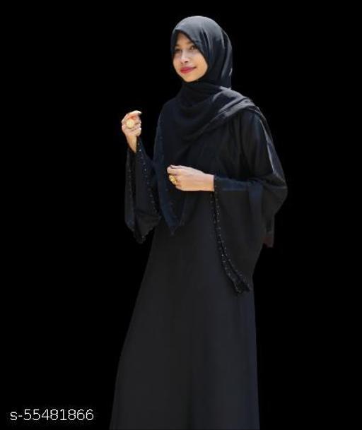 Zuhraa Classic Bilquis Abaya,Burkha For Women, Size:- L(Length - 56 inch and Chest/Bust - 23 inch)