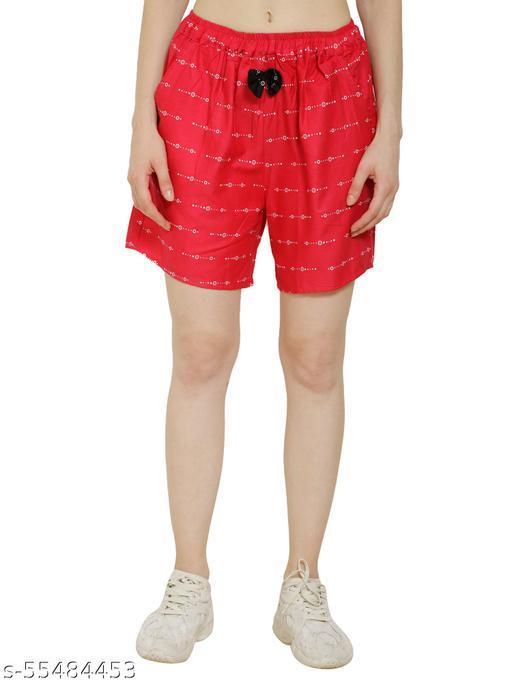 Kushalmangal Women's Cotton Regular Shorts for Girls Boxers Ladies Lounge Shorts for Jogging Running Gym Yoga Summer Night Wear Dresses, Free Size