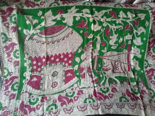 Cotton Kalamkari Saree