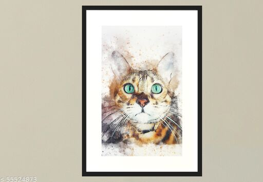 Animals Photo Frame Painting / Animals Art , Photo , Painting , Art , Multicolor ,Wood , 210 x 297 mm , A4 size