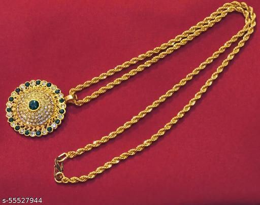 SV Sons Shimmering Necklace set(Green)