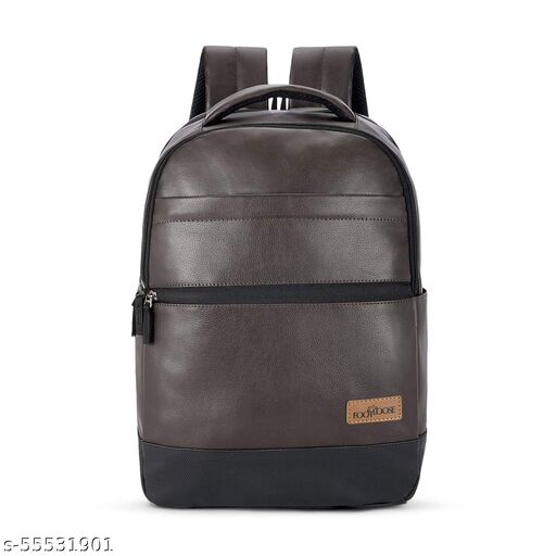 Footloose by Skybags UNISEX 28 Ltrs Dark Brown Leather Laptop Backpack (Zaden)