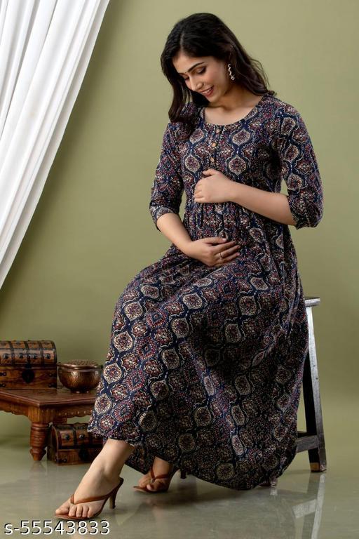 Trendy Printed Meternity Dress