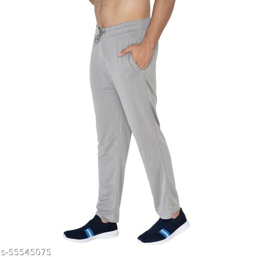 AVOLT Men's Regular Fit Cotton Check Track pants