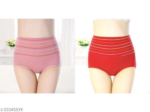 Women's Cotton High Waist Tummy Tucker Pantye  (Pack of 2)