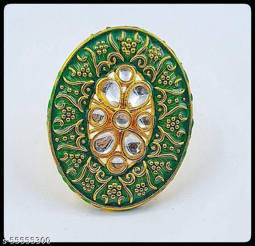 Meenakari Oval shape Ring