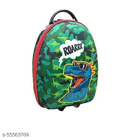 Rush Canvas Luggage Trolleybag for Kids - Backpack for Kids, Cartoon Travel Bag Suitcase for Girls/Boys(roarr)