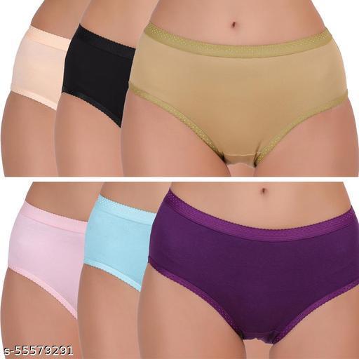 Ladies panties pack of 6 - womens cotton panty