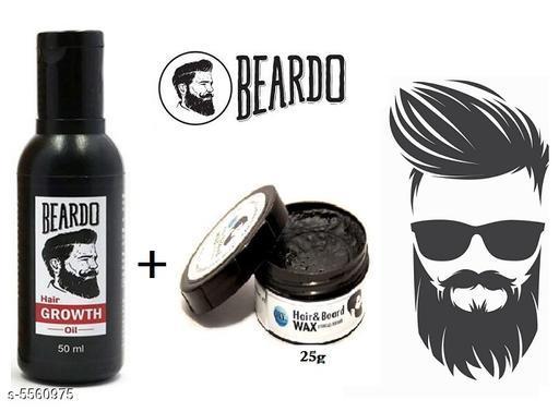 Beardo Beard & Hair Growth Oil & Oxy Hair & Beard Wax Essential For Man