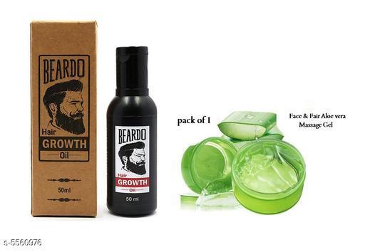 Beardo Beard & Hair Growth Oil & Face & Fair Herbal Aloe Vera Gel