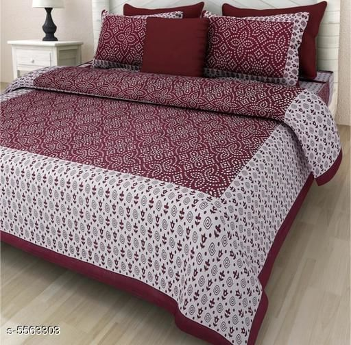 Attractive Cotton Printed 100X90Double Bedsheets