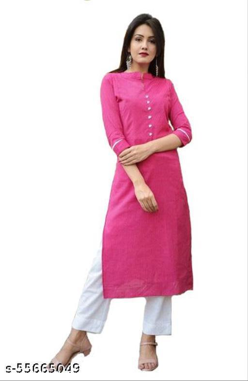 Pink self design kurti