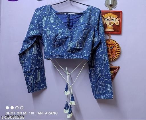 Designer Blue & white Blouse