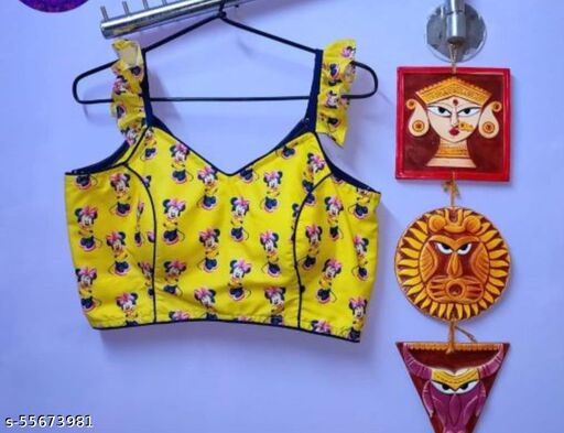 Designer Blouse in Yellow Colour