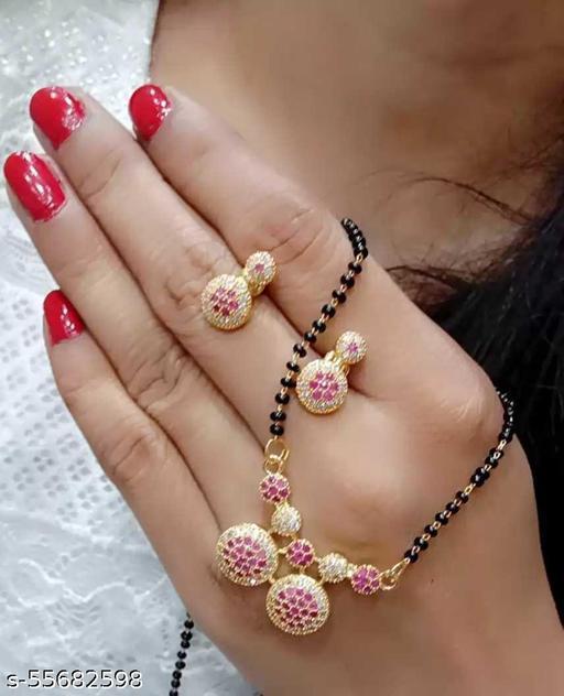 Mukund Jewellers American Diamond Mnagalsutra