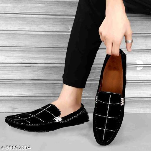 Black Stylish Comfy Loafers Shoe For Men