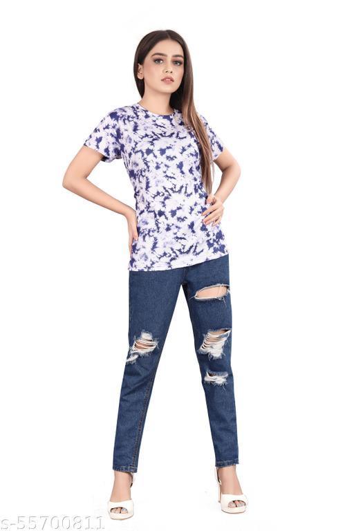 Tie Die Printed Women T-shirts