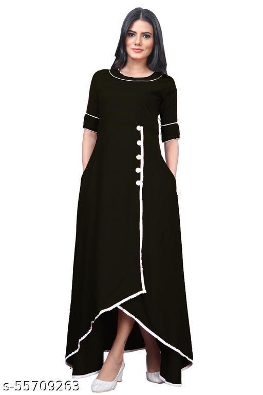 JOY MAKER Women's Fit And Flare Fancy Cotton Western Up & Down Dress