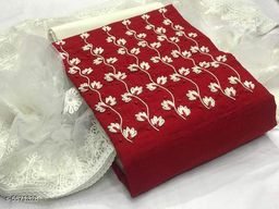Trendy Slub Cotton Suit & Dress Material