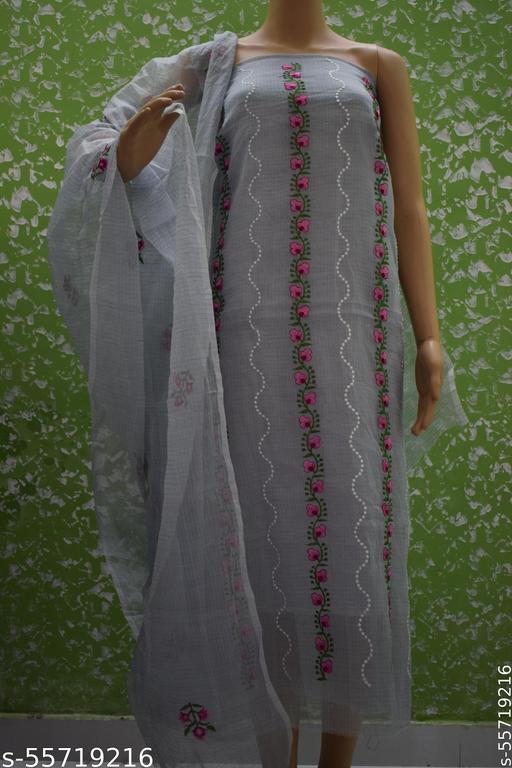 Kota doria computer work embroidery suit
