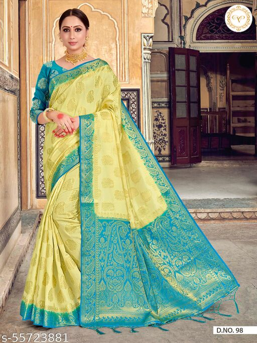 BLACK COLOUR OF LIFE Women's Raw Silk Saree With UnStitched Blouse Piece