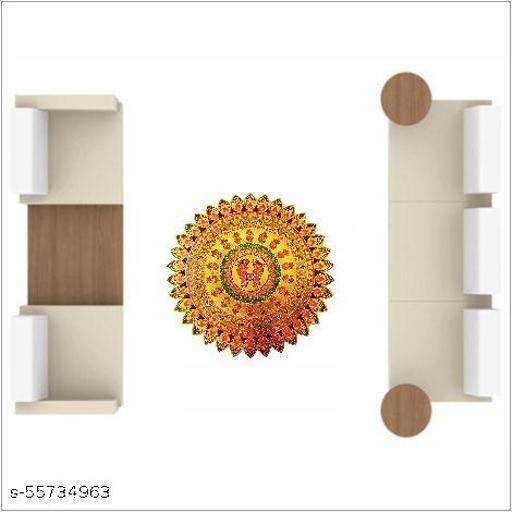 Decorative Rangoli Wall Sticker  (PVC Vinyl, Color:- Multicolor, Size:- 38 Cm X 38 Cm)