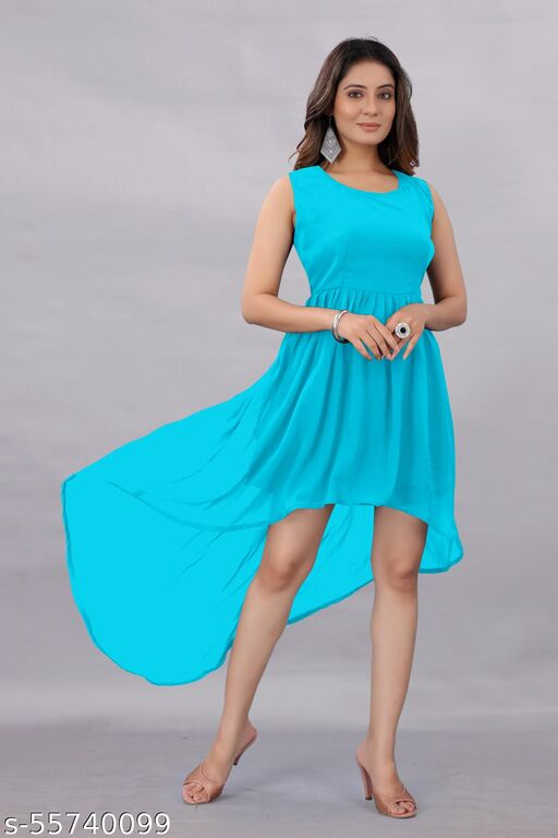 Active Feel Free life Women's Georgette Hight - Low Dress Sky