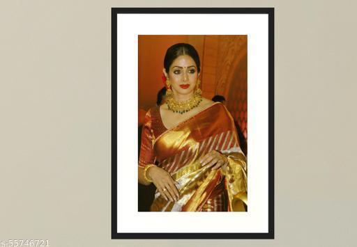 Shri Devi Photo Frame /  Actress ,Wood , 210 x 297 mm , A4 size