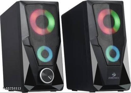 ZEBRONICS ZEB-WARRIOR 10 W Laptop/Desktop Speaker  (Black, 2.0 Channel)