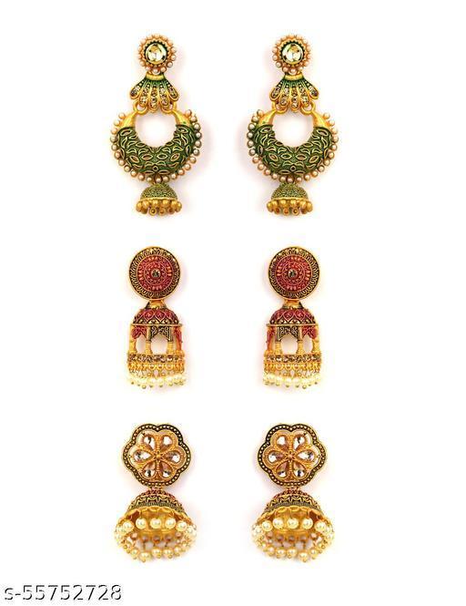 Rose Gold-Plated American Diamond Studded Stud Earrings in Geometric Pattern