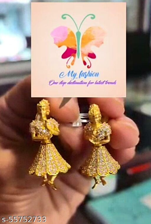 Gold Plated Party Wear Jhumkas