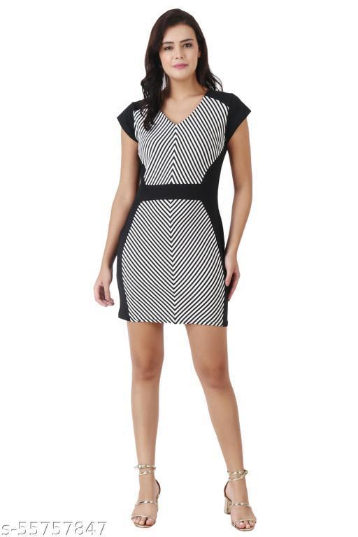 Women's Bodycon Mini Short Dress Black A-line (Pack Of 1)