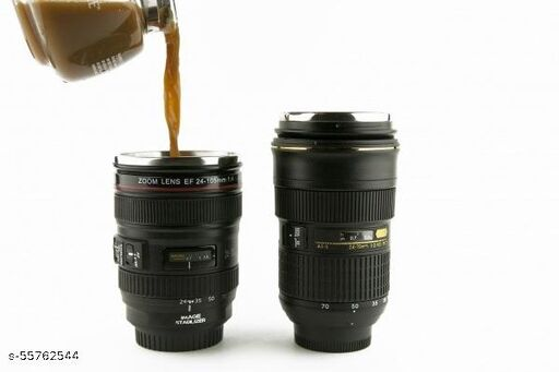 GKP Camera Lens Coffee Mug with Lid, Photo Coffee Cup, Stainless Steel Thermos Lens Mug Leak Proof for Photographer Lovers Present