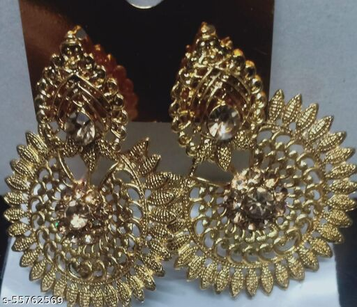 allure graceful gold platted earring