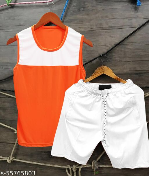 Combo of Sandos & shorts , Drifit material, Light Weight Soft Fabric